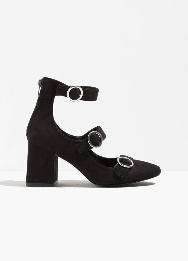 Shoes with wide heel and buckles | OVS