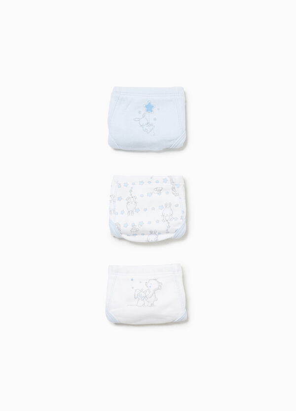 Three-pack cotton printed and patterned briefs