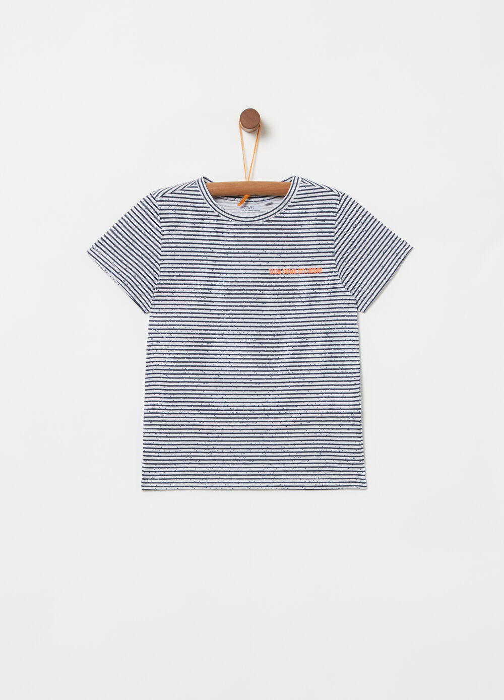100% cotton T-shirt with all-over stripe print