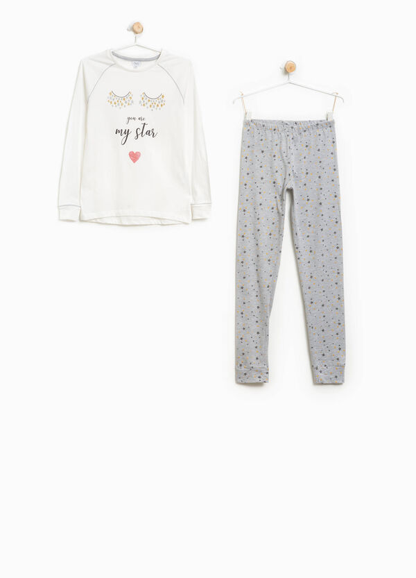 Star pattern cotton pyjamas | OVS