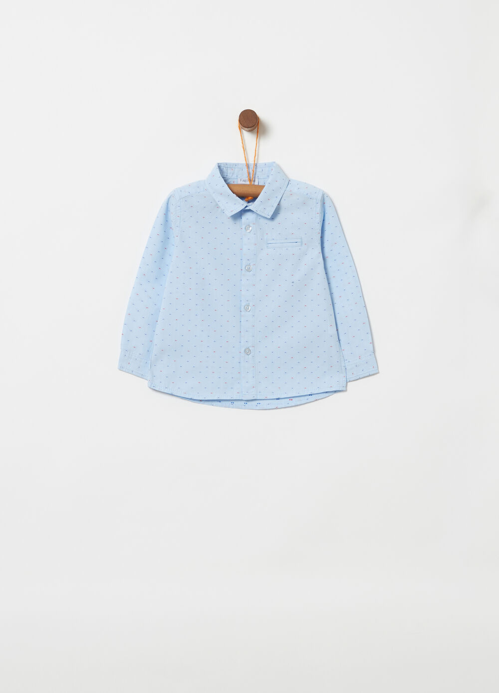 100% cotton polka dot pattern shirt