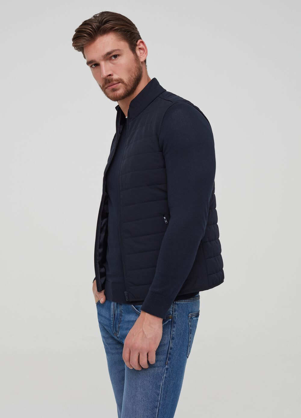 Quilted full-zip gilet