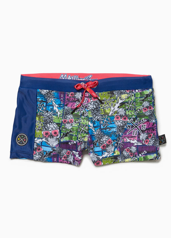 Skulls swim boxer shorts by Maui and Sons