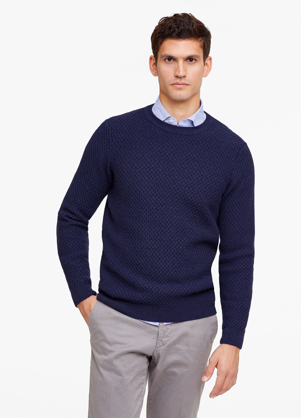 Rumford knitted pullover in wool blend