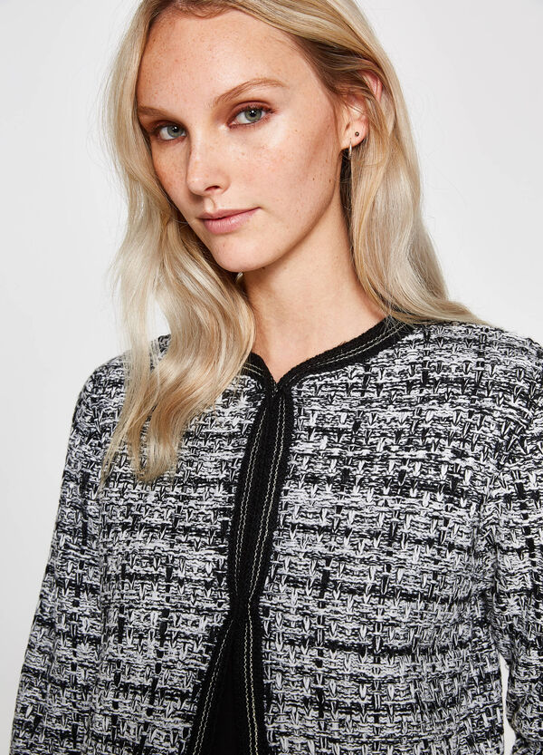 Two-tone knitted blazer with pockets | OVS