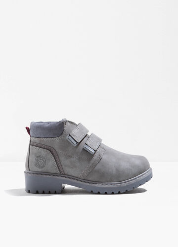 Boots with Velcro fastening.