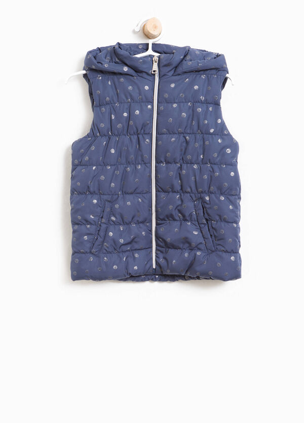 Gilet imbottito stampa a pois all-over | OVS
