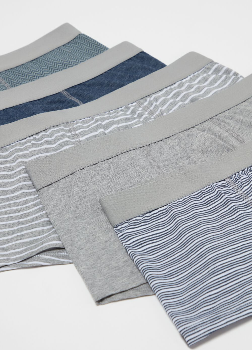 Five-pack boxers in 100% organic cotton