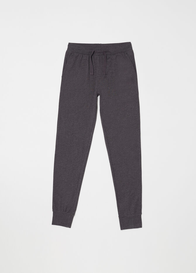 Pantalone lungo homewear con coulisse