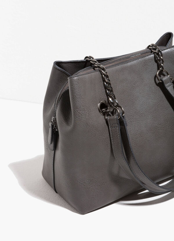 Hammered-effect shoulder bag | OVS