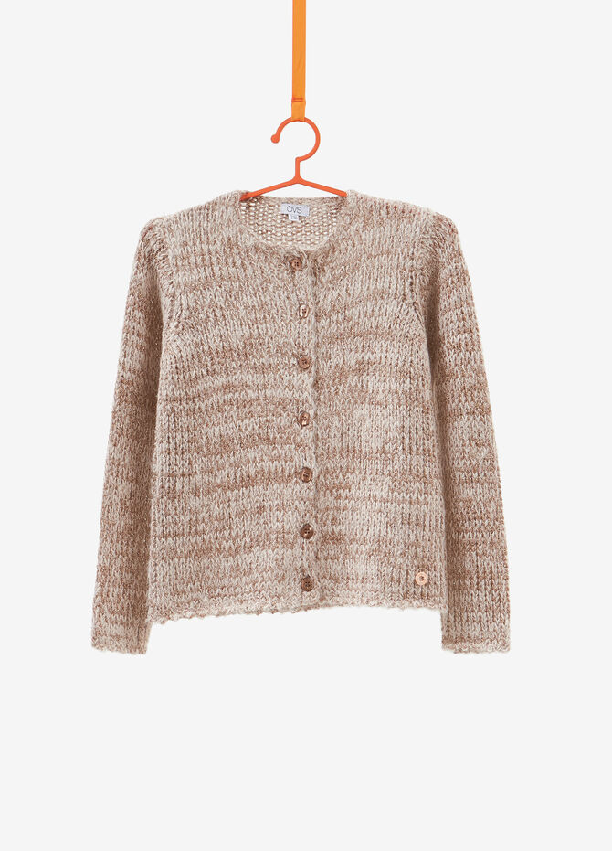 Knitted mohair blend cardigan with lurex