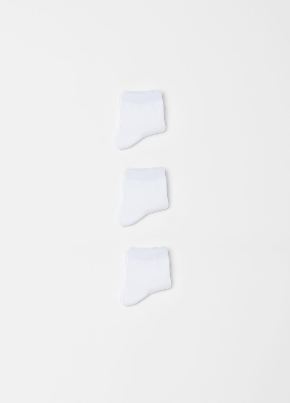 Three-pair pack short stretch socks