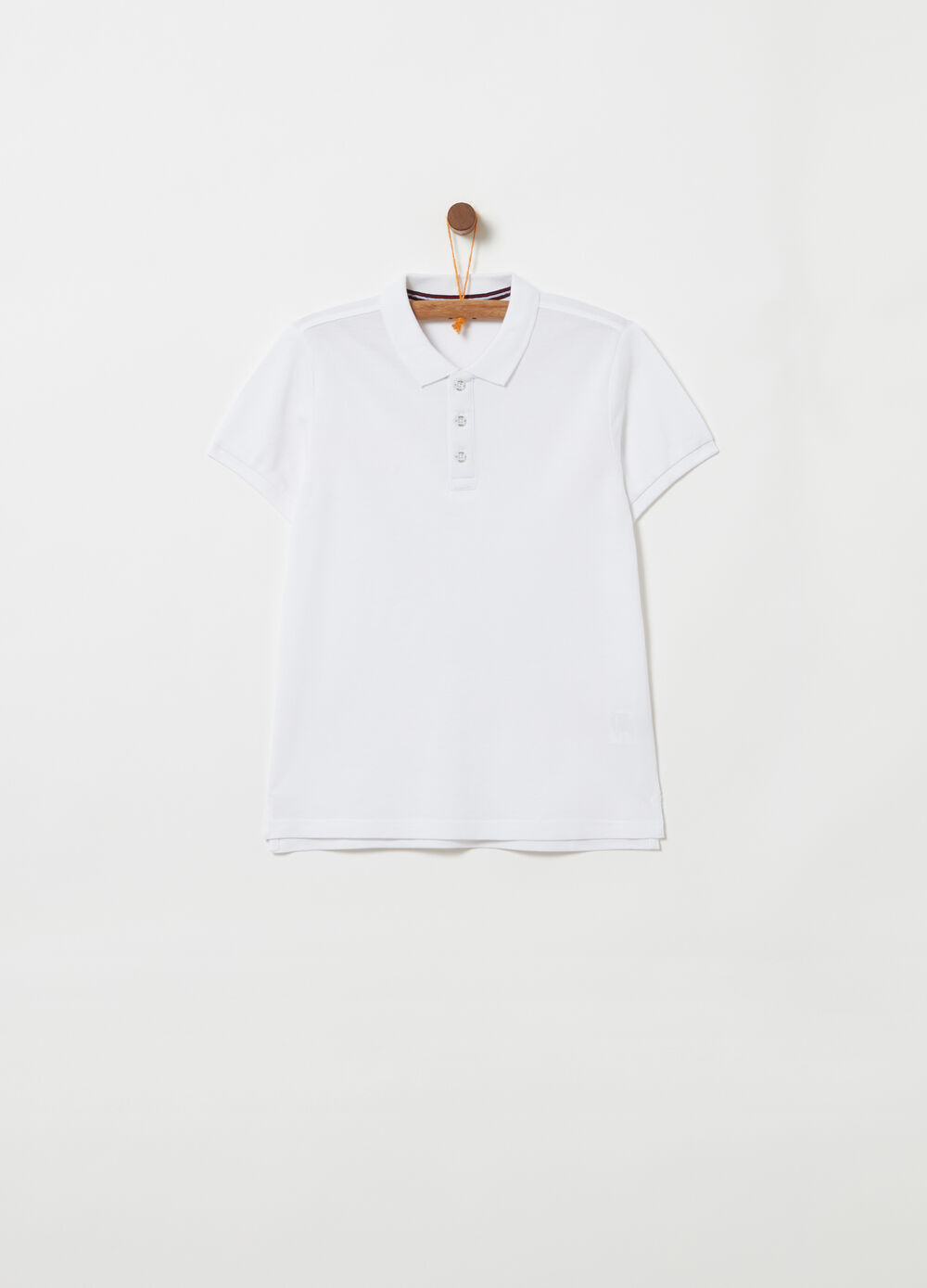 100% cotton piquet polo shirt with ribbing
