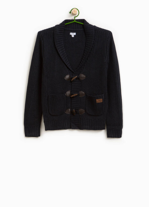 Knitted cardigan with toggles | OVS