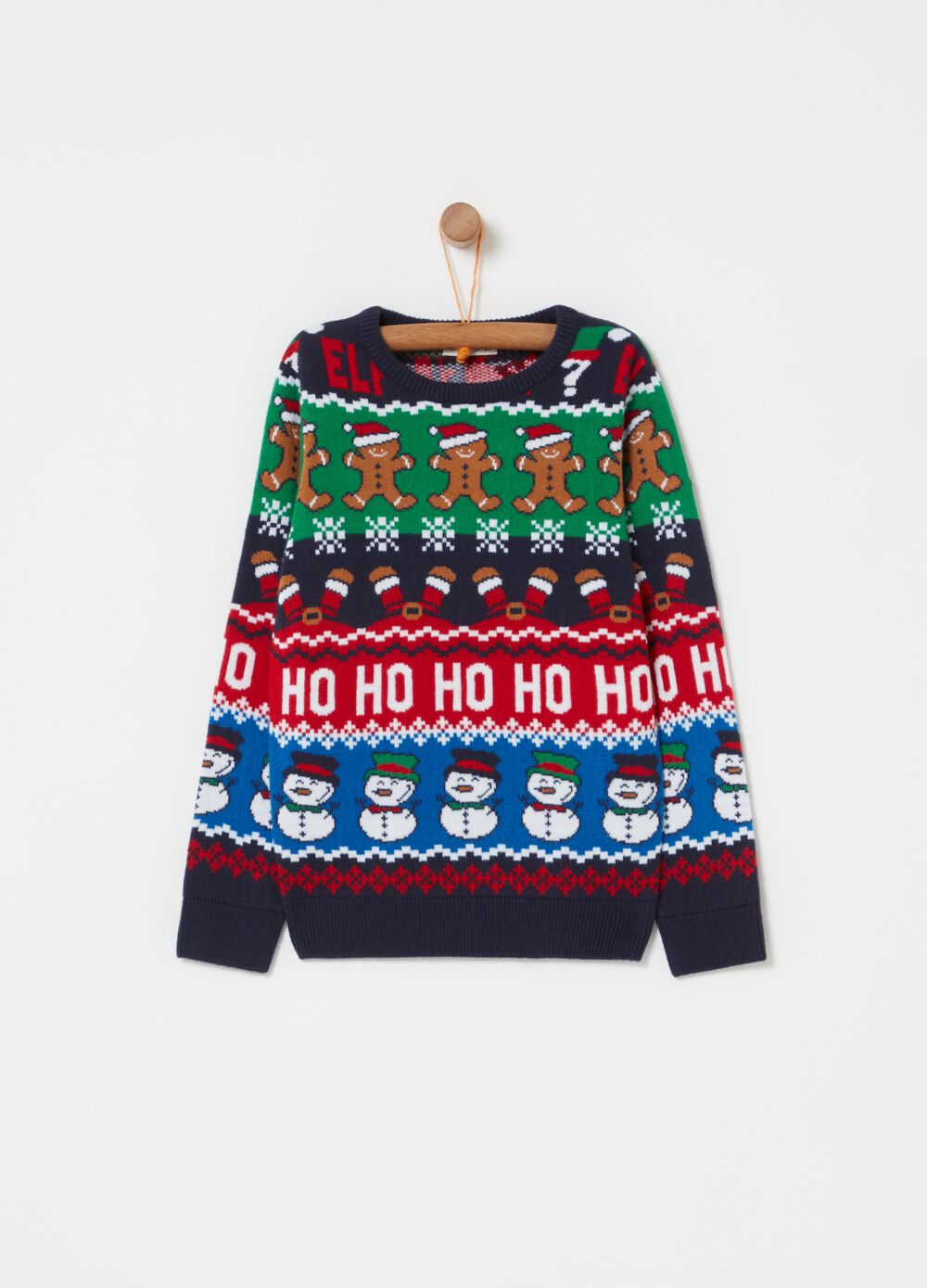 Knitted Christmas jumper with pattern