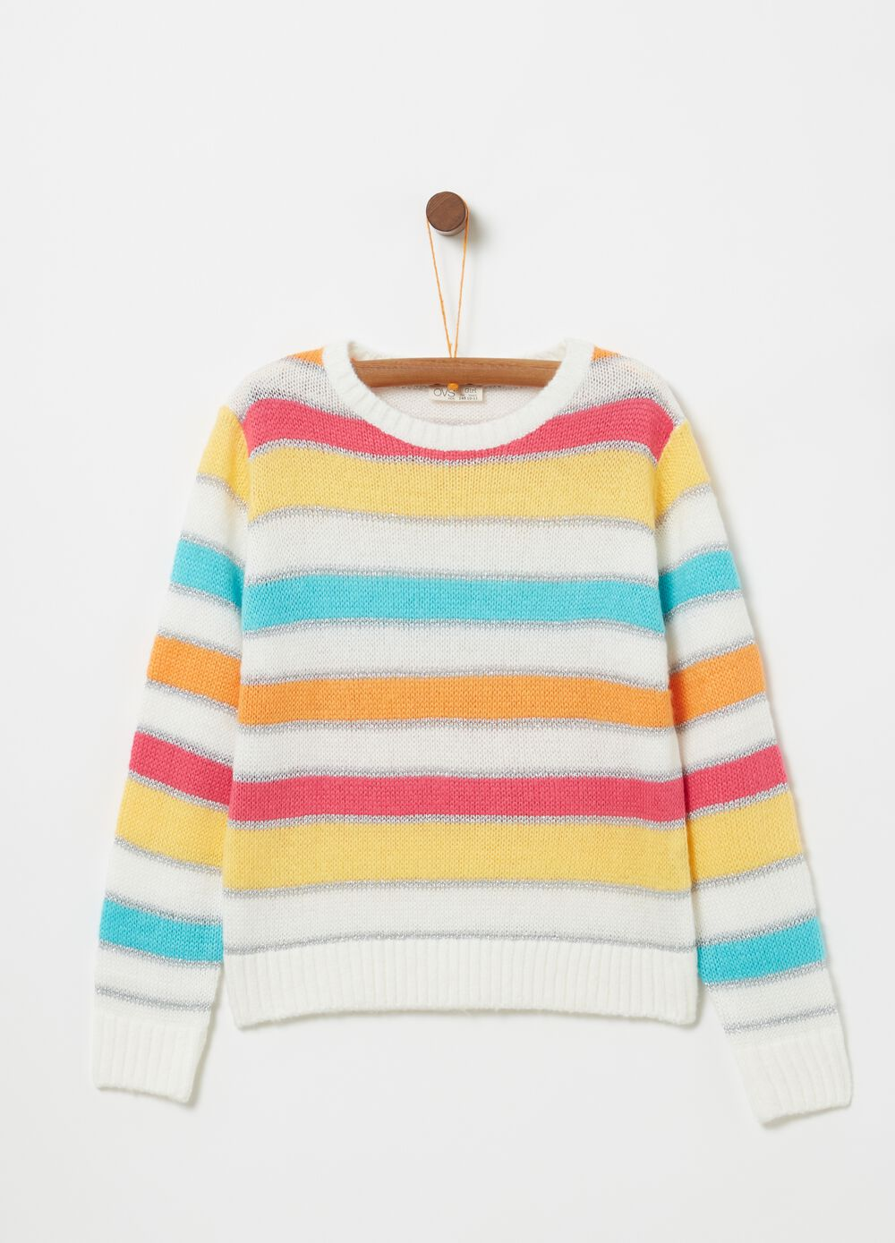 Knitted top with striped pattern
