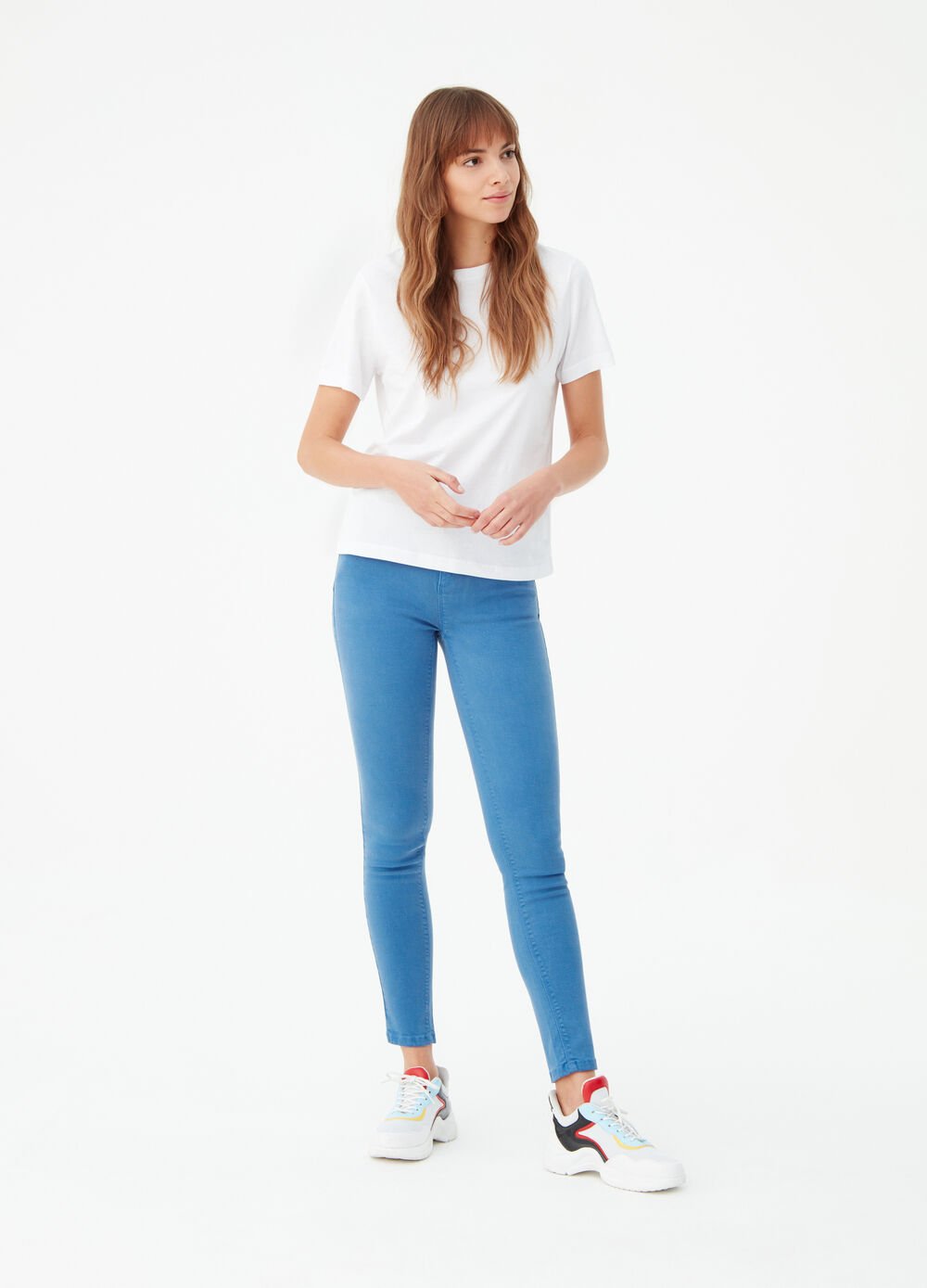 Push-up super skinny trousers