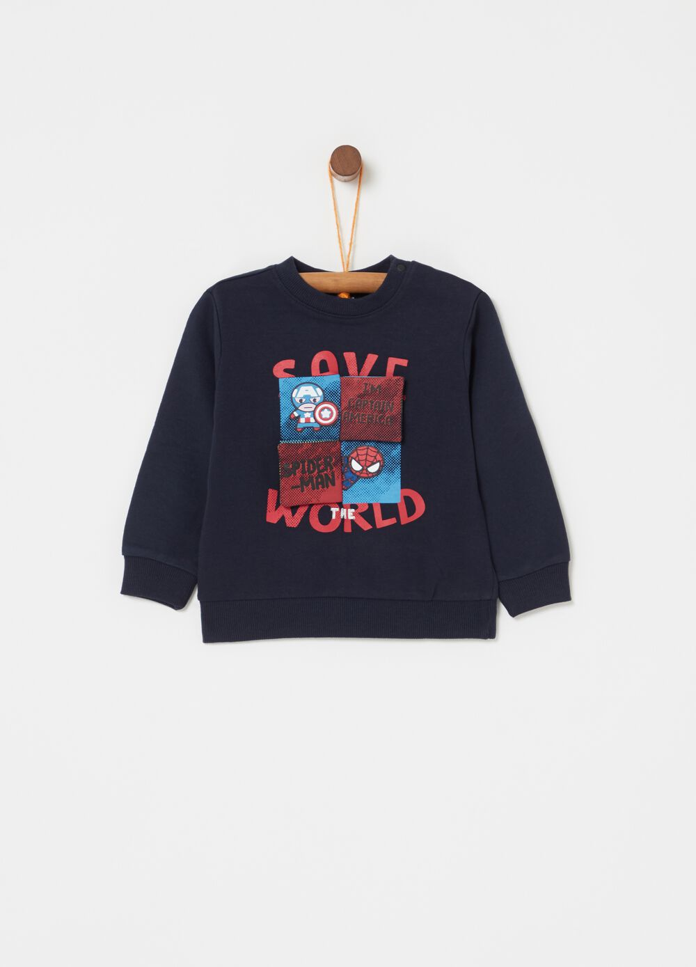100% cotton sweatshirt with print and lettering