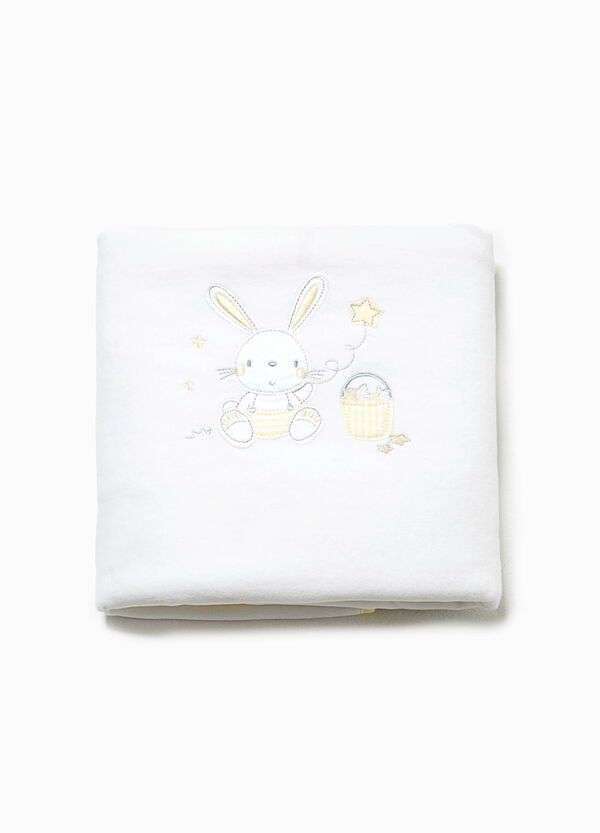 Cotton crib blanket with patches | OVS
