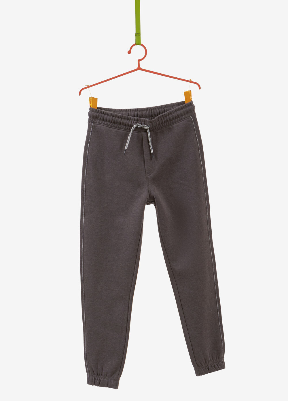 Cotton and viscose trousers with pocket