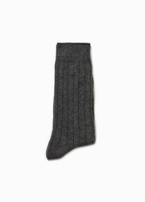 Solid colour short ribbed socks | OVS