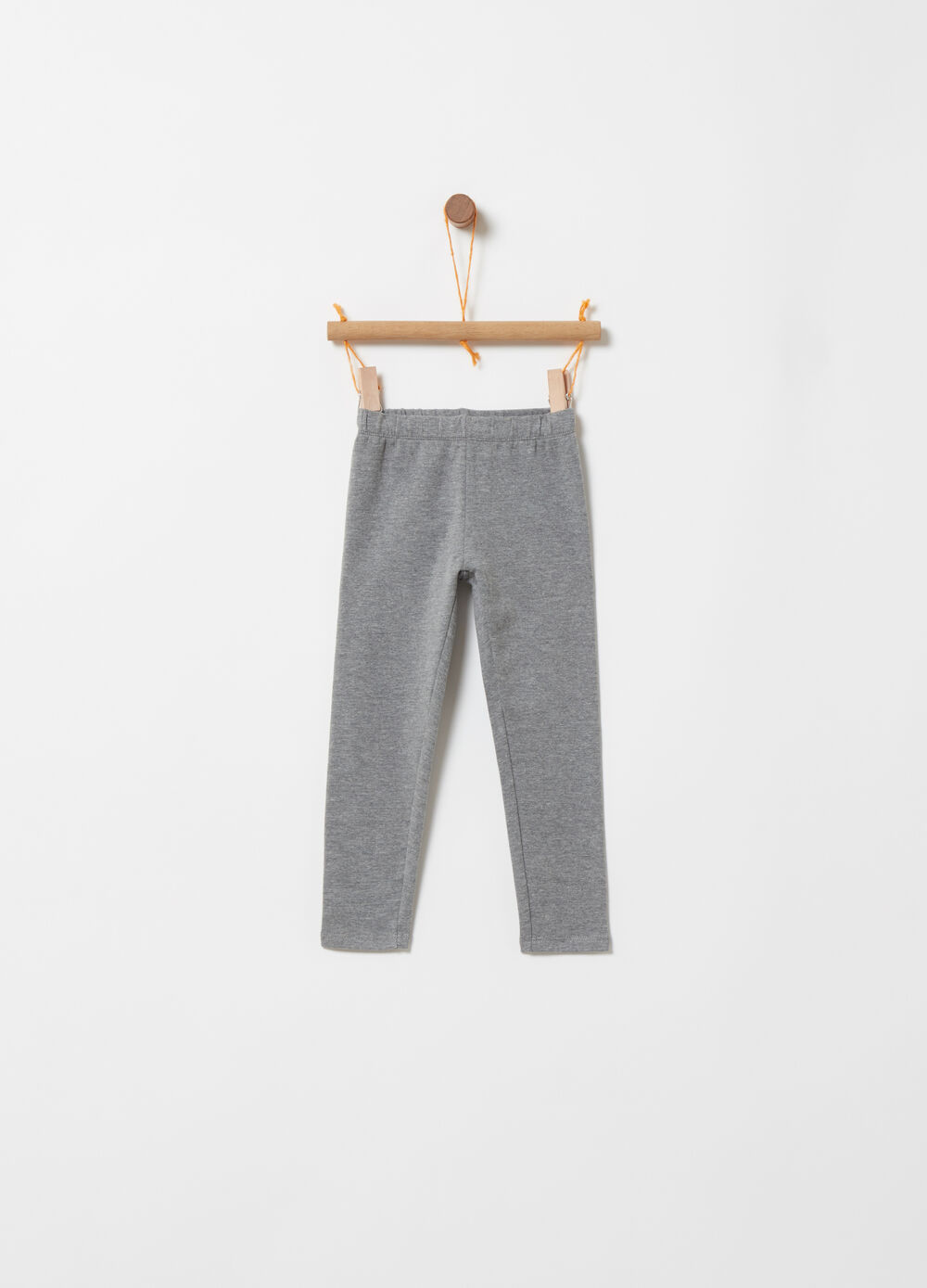 Stretch brushed fleece leggings