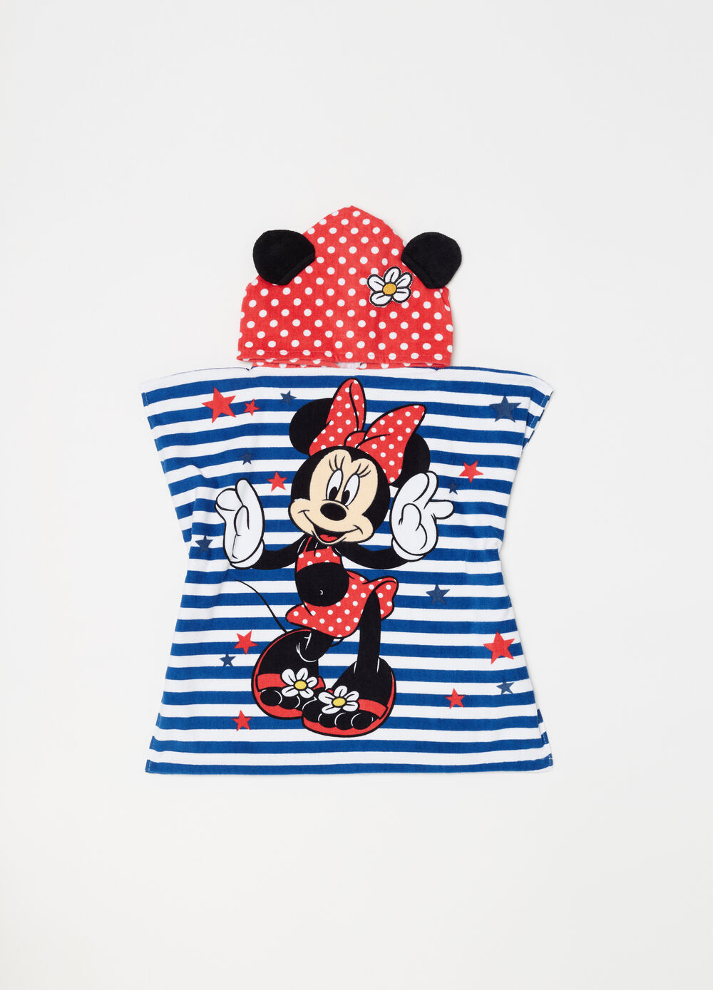 Disney Baby Minnie Mouse striped bathrobe