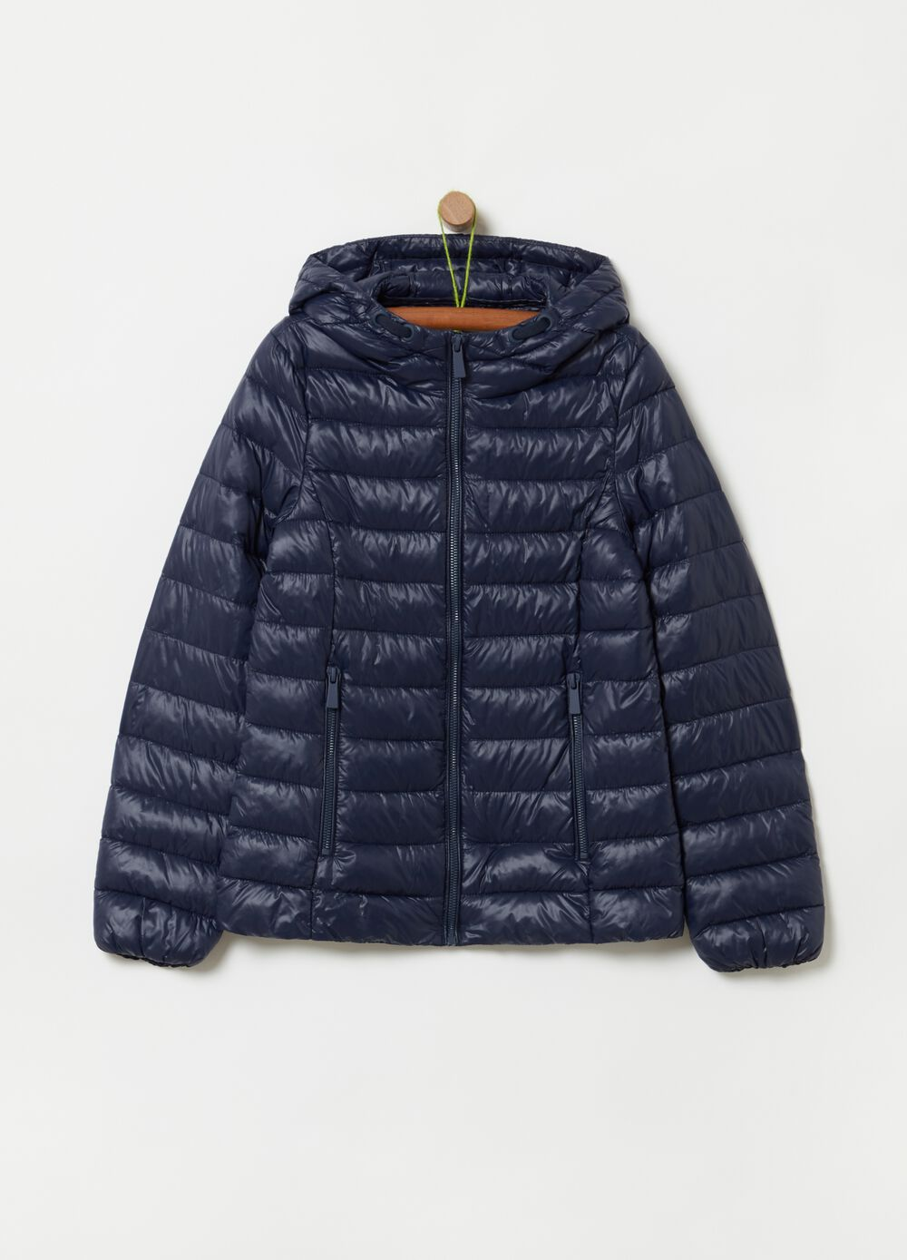 Ultra light quilted jacket with zip