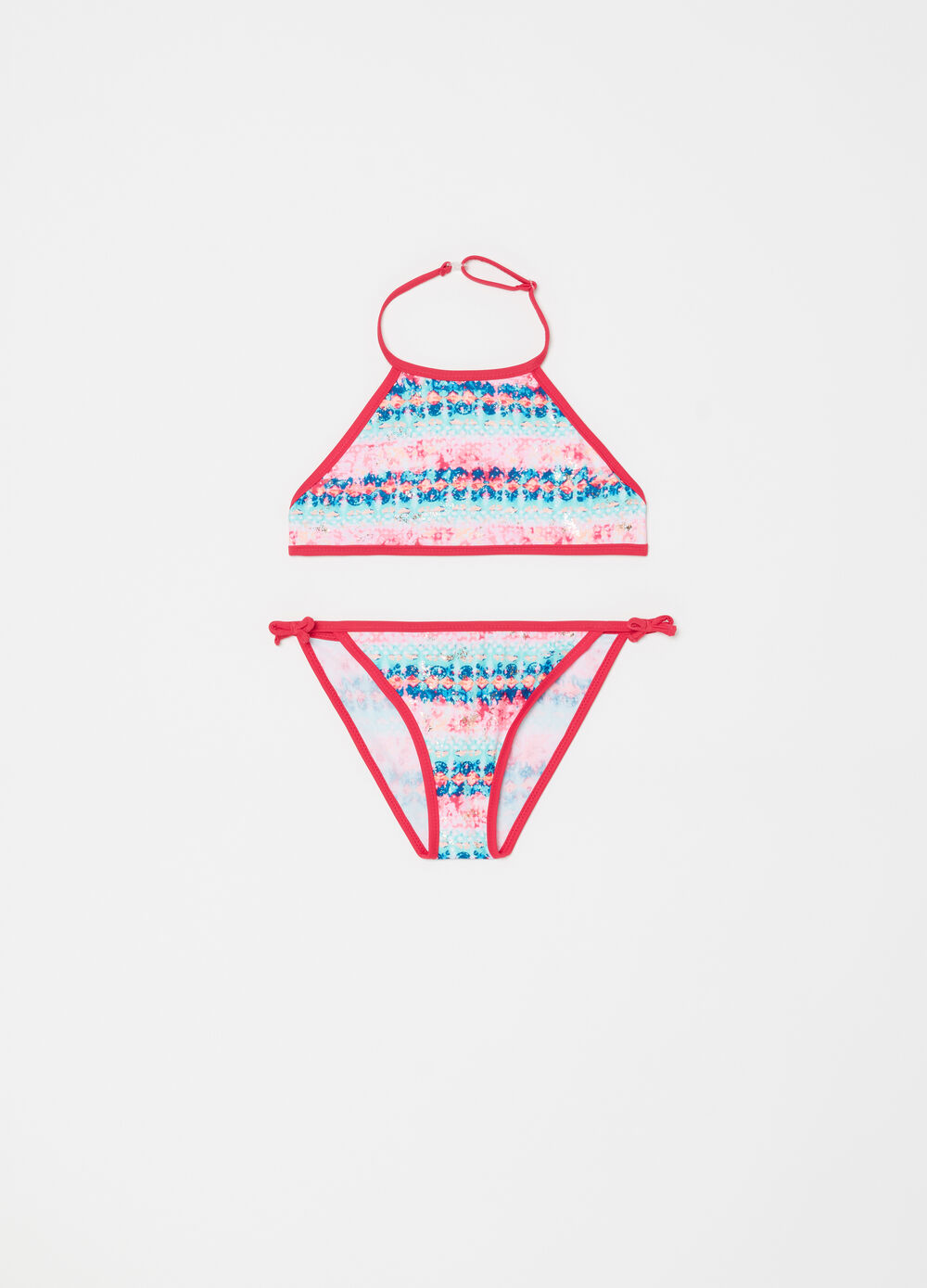 Multicoloured bikini top and briefs by Maui and Sons