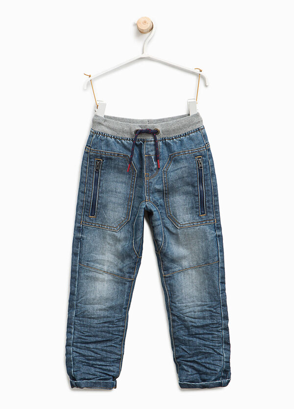 Jogger-fit jeans with contrasting seams | OVS