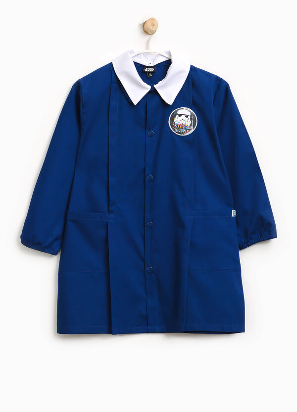 Cotton blend smock with Star Wars patches | OVS