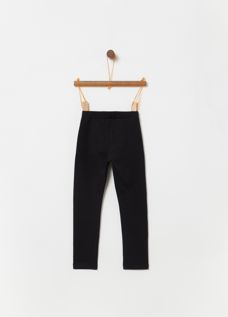 Treggings with pockets and pleated insert image number null
