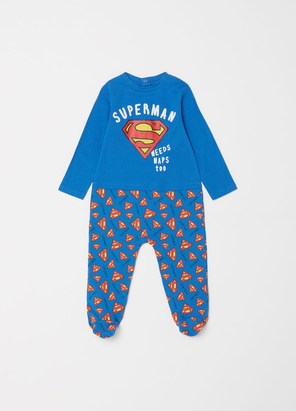 Pelele con pies estampado Superman