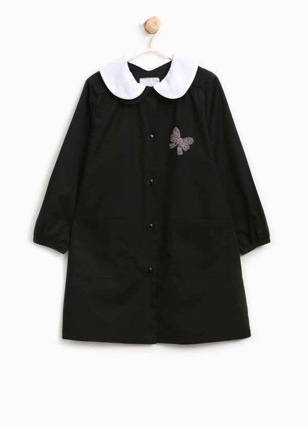 Smock with double collar and diamantés | OVS