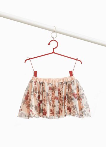 Gonna in tulle stampa floreale