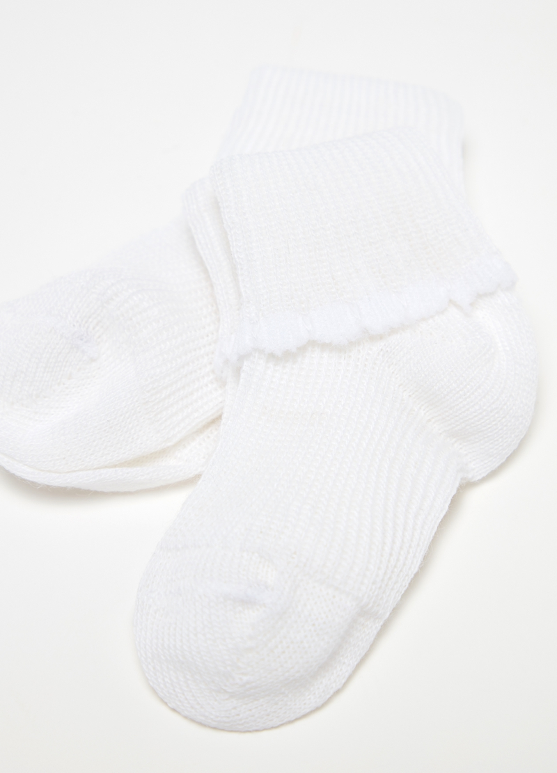 Two-pair pack short socks with fold image number null