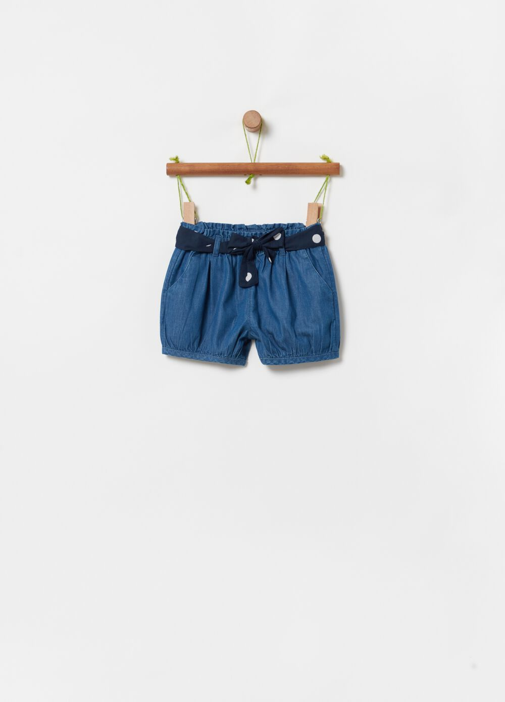 Shorts in 100% organic cotton denim