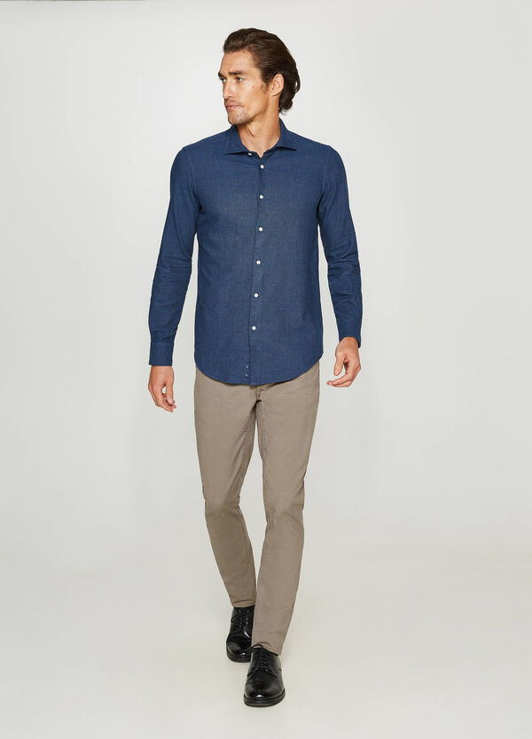 Rumford casual shirt with micro-check pattern