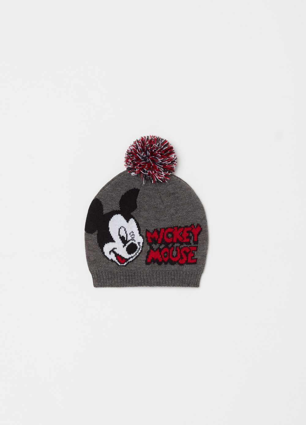 Knitted mélange Disney Mickey Mouse hat