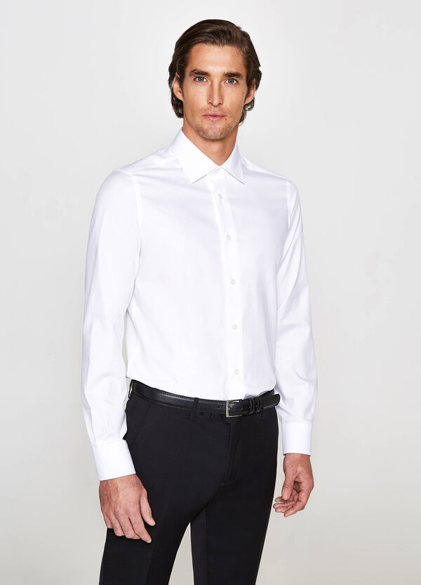 Camicia elegante slim fit in puro cotone