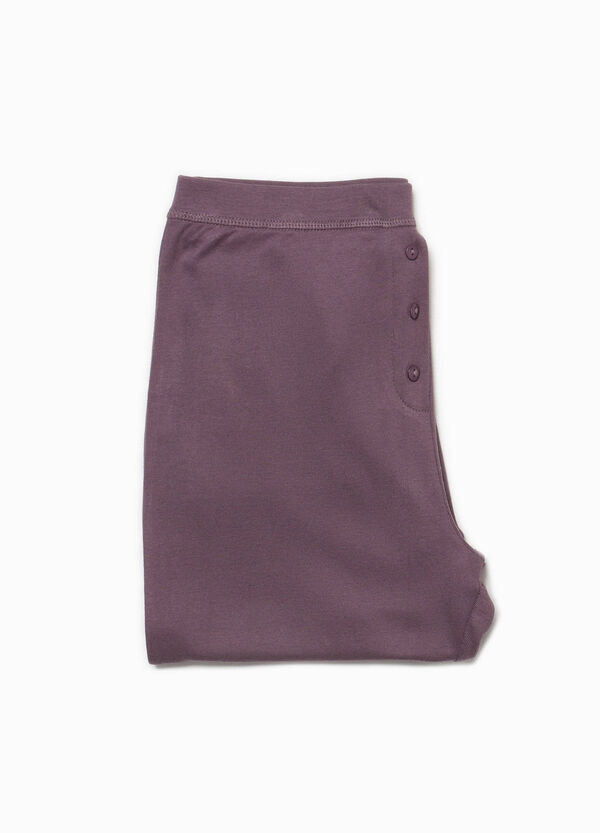 100% cotton pyjama trousers with buttons