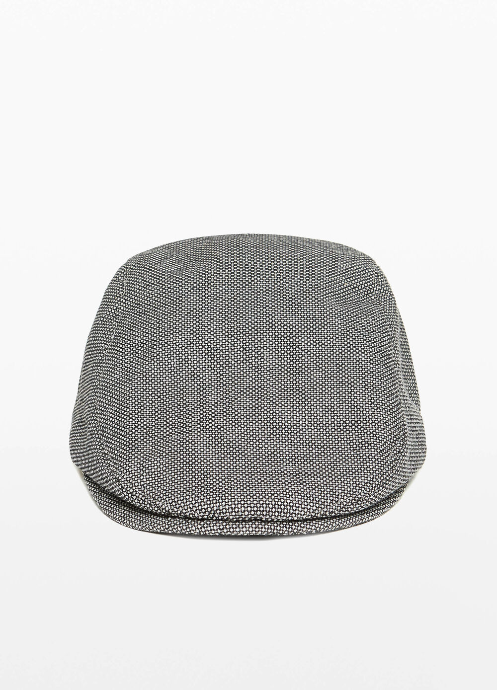 Cotton flat cap with micro pattern