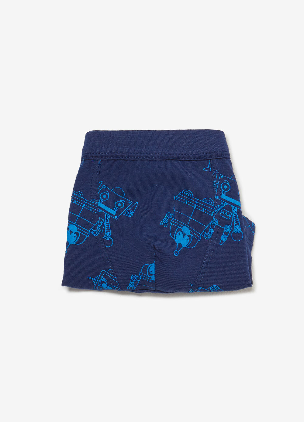 Boxer shorts in stretch cotton with robot pattern
