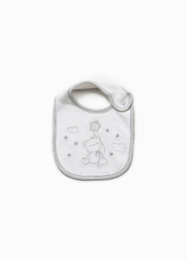 Cotton bib with animal patch | OVS