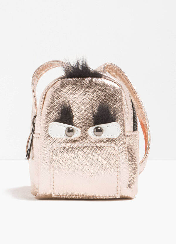 Shiny backpack with fur | OVS