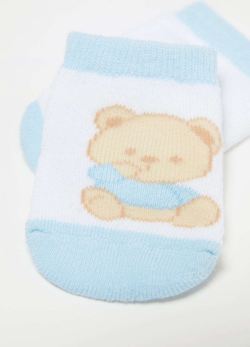 Two-pair pack short socks with print and pattern image number null
