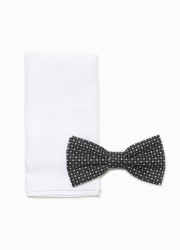 Clutch bag and polka dot bow tie set