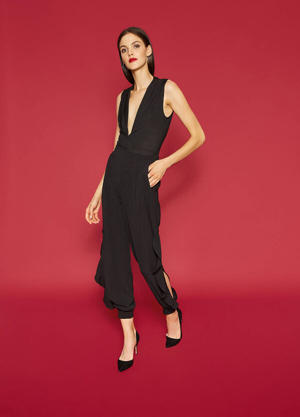 Stretch trousers with openings | OVS