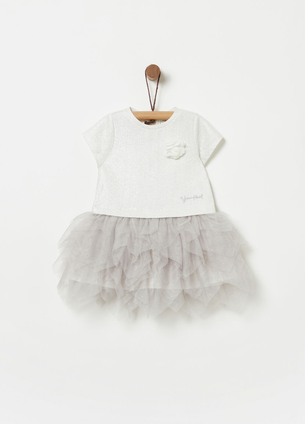 Dress in French Terry with tulle