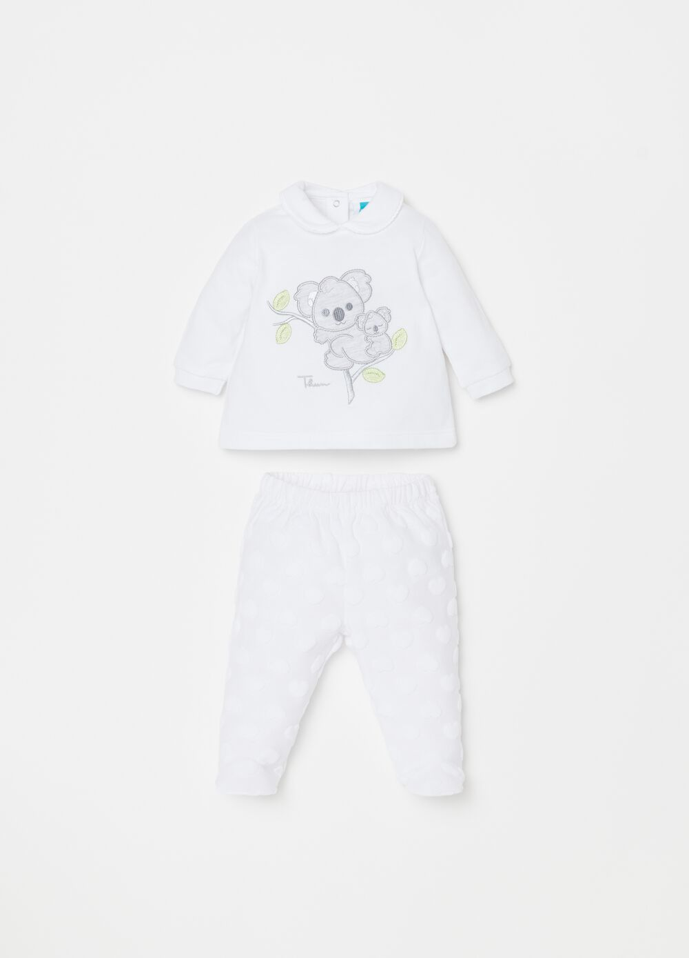 T-shirt and trousers set with feet